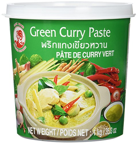 Cock Currypaste, grün, 1er Pack (1 x 1 kg Packung) (Red Thai Curry Paste)