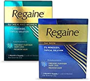 Regaine 5% for Men & 2% for Women Minoxidil Topical Solution 1 Month Supply 2-in-1 Pack