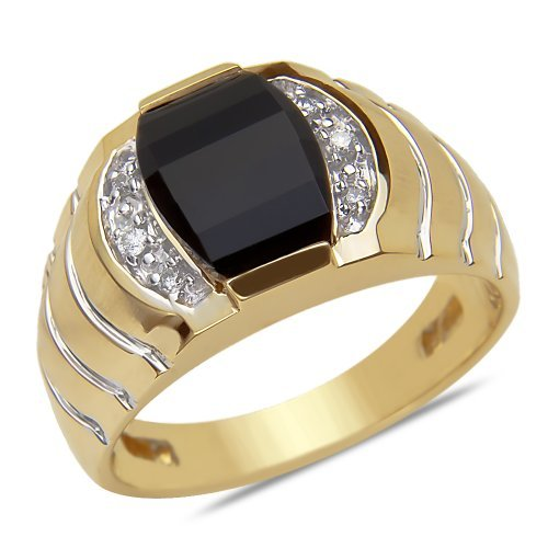 07cttw-mens-ring-with-black-onyx-in-10k-yellow-gold-by-nissoni-jewelry