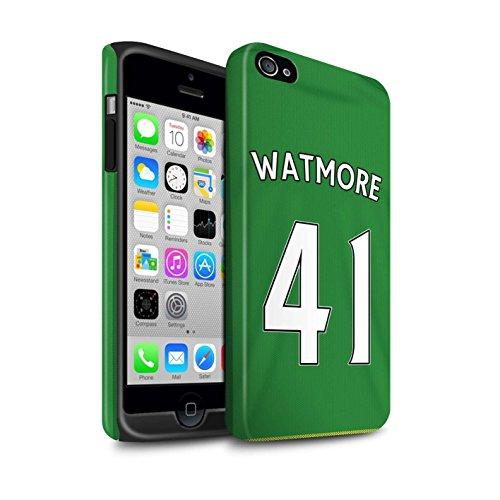 Offiziell Sunderland AFC Hülle / Matte Harten Stoßfest Case für Apple iPhone 4/4S / Pack 24pcs Muster / SAFC Trikot Away 15/16 Kollektion Watmore
