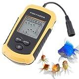 Lixada, cerca pesci con sensore sonar, allarme 100m, portatile, trasduttore a fascio ultrasonoro con allarme