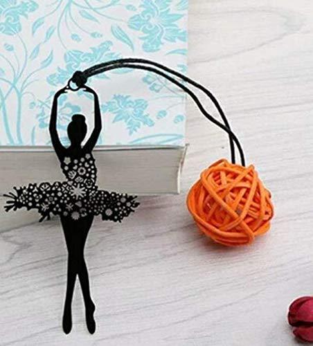 Yonsenner - Segnalibro in metallo a forma di danza, stile retrò, idea regalo per donne e ragazze