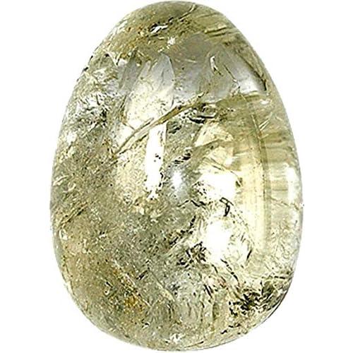 Oeuf cristal de roche - pièce de 30 X 45 mm