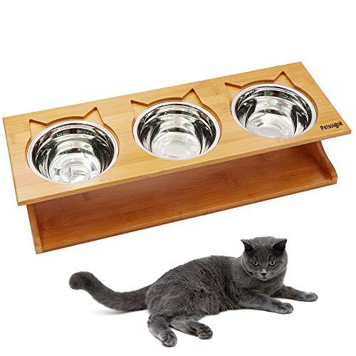 Petilleur Cuenco Elevado Gatos Perros Comedero Gato