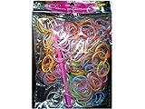 Lot de 300 élastiques Glitter Métalisé (paillette Métal) multi couleur pour Rainbow Loom Bands