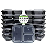 Best Freshware Meals - Freshware Meal Prep 15-Pack 3-Compartments Bento Lunch Box Review