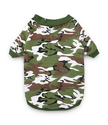 332a0d7e1 DroolingDog Camuflaje Camo Perro Ropa de Perro tee Shirts para Perros  XXXXX-Grande (Cuello
