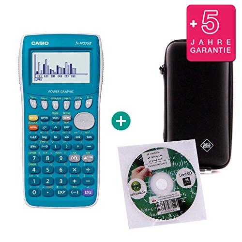 Streberpaket: Casio FX 7400 GII + Erweiterte Garantie + Lern-CD (auf Deutsch) + Schutztasche