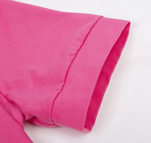 Cardigan corsé féminin Shrug à manches courtes Bolero en coton 215 # Hot Pink
