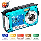 Camara Acuatica Full HD 2.7K 48 MP Camara Fotos Acuatica Sumergible Selfie Pantallas Dobles 16X Zoom...
