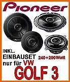 VW Golf 3 - Lautsprecher - Lautsprecherset Pioneer - Front