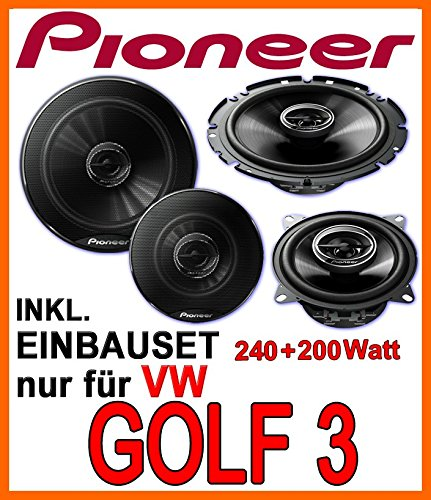 JVC Front Auto Lautsprecher Kompo für VW Polo 3 1994-1999 6N