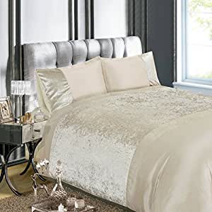 Just Contempo Luxury Embellished Crushed Velvet Duvet