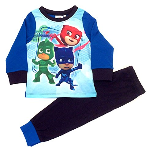 PJ MASKS Jungen Schlafanzug blau multi, blau (Pj Baumwolle Herren)