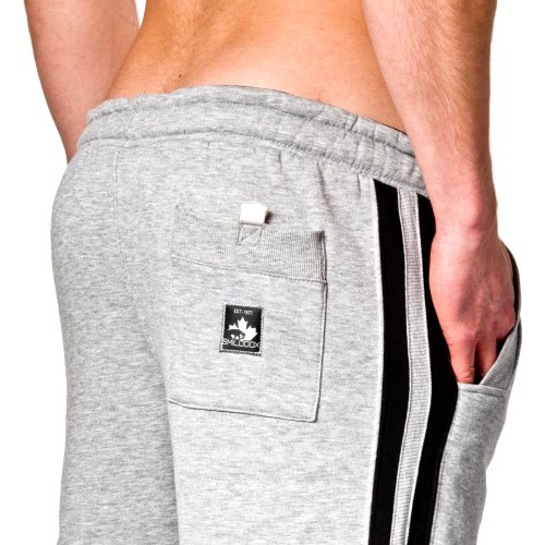 SMILODOX Herren Jogginghose | Trainingshose für Sport Fitness Gym Training & Freizeit | Sporthose - Jogger Pants - Sweatpants Hosen - Freizeithose Lang Grau/Schwarz
