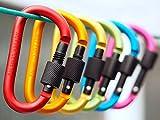 Xgeek 6 PCS 6 colores Aleación de aluminio Mosquetón de escalada D-anillo llavero gancho de clip para acampar Senderismo