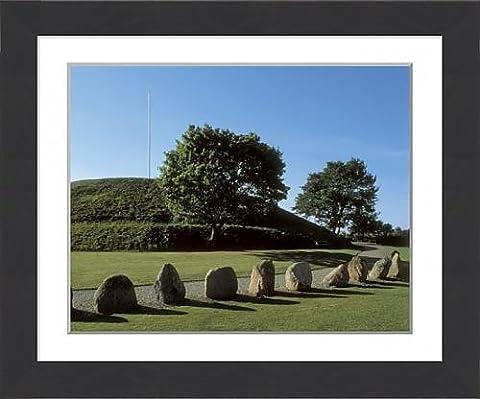Framed Print of DENMARK. JUTLAND. VEJLE. Jelling. Gorm s burial