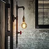 Water Pipe Wandleuchte, SUN RUN Metall Vintage Industrial Wandleuchte mit Retro-Stil für Bar, Küche, Wohnzimmer und Schlafzimmer, E26 Sockel-Lampe