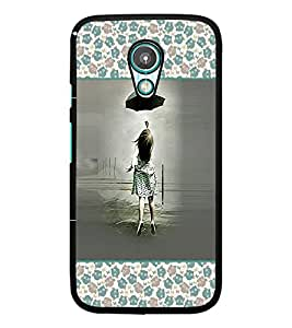 PrintDhaba Girl with Umbrella D-2616 Back Case Cover for MEIZU M1 NOTE (Multi-Coloured)