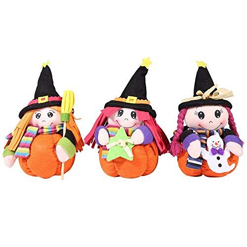 (Hukangyu1231 Halloween Dekoration Desktop Hexe Puppe Bar Ball Shop Hotel Geschenk Ornament Halloween-Dekoration)