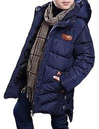 MILEEO Jungen Mantel Jacket Parka Kinder Jungen Mantel Winter Baumwolle Kindermantel Langarm Outwear Wintermantel mit Kapuze Winterjacke Steppjcake Coat, ,