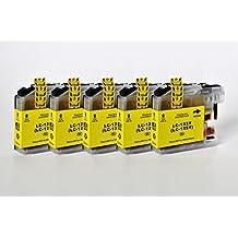 LC-123/LC-125 Printing Saver pack de 5 AMARILLO cartuchos de tinta compatibles para BROTHER DCP-J132W, DCP-J152W, DCP-J552DW, DCP-J752DW, DCP-J4110DW, MFC-J470DW, MFC-J650DW, MFC-J870DW, MFC-J4410DW, MFC-J4510DW, MFC-J4610DW, MFC-J4710DW, MFC-J6520DW, MFC-J6720DW, MFC-J6920DW impresoras