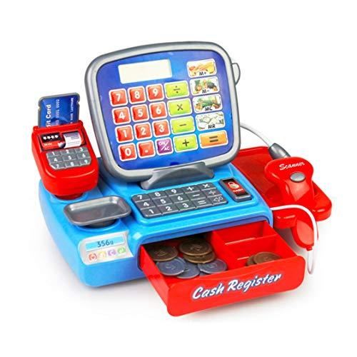 Hermosairis Kinder elektronisches Registrierkassen-Taschenrechner-Spielwaren mit den Münzen vorgeben Kassierer-Lernspiel-Spielzeug-frühe Bildungs-Spielwaren