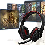 Generic Gaming Auricolari Surround Stereo Headband Cuffia USB Bass LED with Mic for PC