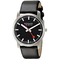 Mondaine Herren-Armbanduhr SBB Simply Elegant 41mm Analog Quarz A6383035014SBB