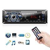 Autoradio Bluetooth, 1 Din Radio de Voiture Audio, Stereo FM Radio 4x60W Poste Radio...