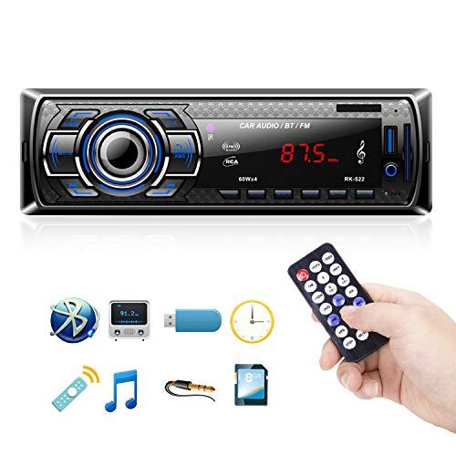 Radio Coche Bluetooth Reproductor de Mp3 Autoradio FM Estéreo de Automóvil on