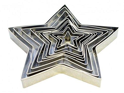10 x Ausstechformen STERNE SET - Shantys (Sterne Metall-ausstechformen)