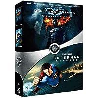 The Dark Knight, le chevalier noir - Superman Returns : coffret 2 DVD