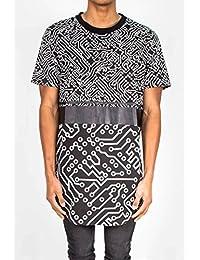 T-shirt oversize Sixth June circuit imprimé noir 1646V