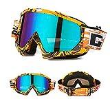 Skibrille Motorradbrillen Schutzbrille,Winter Schnee Sport Snowboardbrille,Skibrille Für Damen Und Herren Jungen Und Mädchen (Orange)