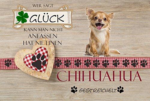 Fussmatte 'Wer sagt Glück kann man nicht anfassen hat noch nie einen Chihuahua gestreichelt' -...
