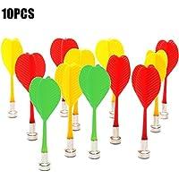 ZREAL 10 Piezas de Recambio de Dardos magnéticos Dart ala de plástico para el Tablero de Dardos imán Juego de Destino Juguetes