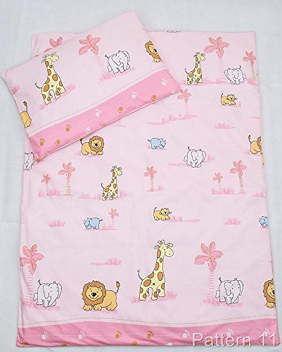 4 Piece Toddler Kids Cot Bed Set...