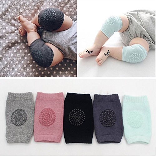 Q4U New Safety Pair Infant Toddler Baby Knee Pad Crawling Safety Protector Crawling Protective Knee/Elbow Pads for Toddler Baby Infant Kids (Green)
