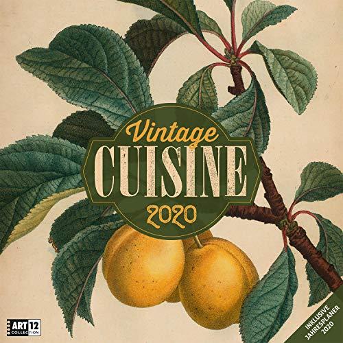 Vintage Cuisine 2020, Wandkalender / Broschürenkalender im Hochformat (aufgeklappt 30x60 cm) - Geschenk-Kalender mit Monatskalendarium zum Eintragen