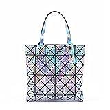 Gefaltete Frauen Taschen Geometrische Plaid Luxus Handtaschen Berühmte Laser Taschen Designer Große Einkaufstasche Damen Abendtaschen 4