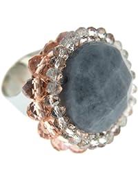 Sweet Deluxe Damen-Ring Agnesa silber/pink/grau 00933