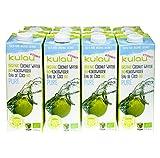 KULAU Bio-Kokoswasser PURE 1 Liter - 100% pures Kokosnusswasser aus der Kokosnuss, 12er Pack (12 x 1 L)