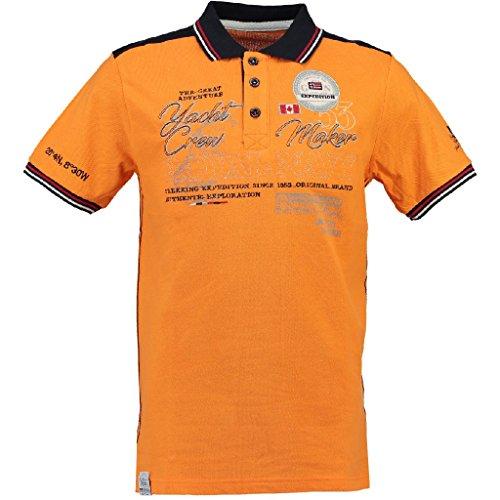 Kobalt SS Men Poloshirt von Geographical Norway Orange