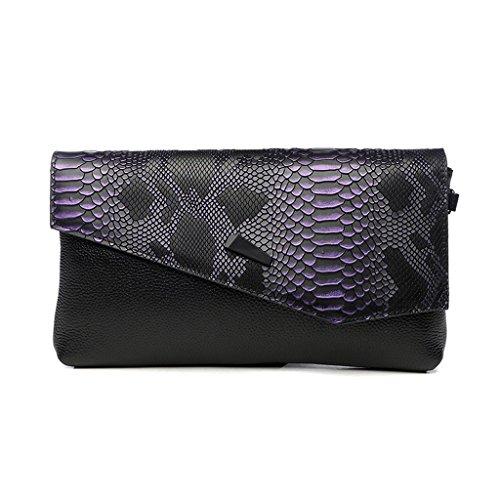 Home Monopoly Sacchetto di mano della temperanza selvaggia della nuova borsa della moda della borsa della borsa della femmina grande sacchetto della frizione del sacchetto di banchetto / con la cinghi Viola