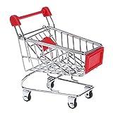 Mini Einkaufswagen - SODIAL(R) Mini Supermarkt Einkaufswagen Stiftehalter Hamster Kinder Spielzeug (Rot)