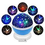 Constellation Night Projektor, Planetarium Cosmos Star Projektor mit 360Rotation Starry Deckenleuchte für Baby Kinder Kind Schlafzimmer (blau)