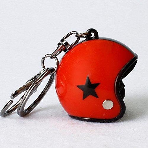 XuBa Star modello casco design portachiavi auto moto motore casco per bicicletta portachiavi catena, Red