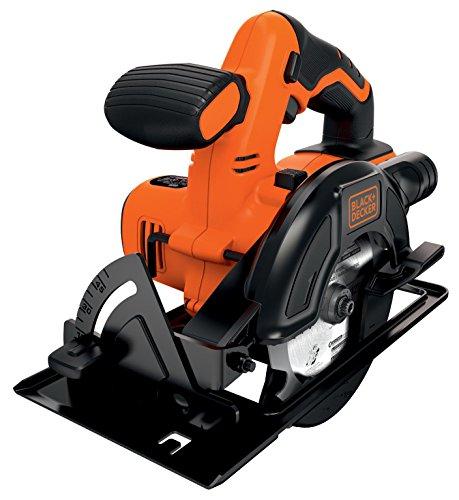 Black+Decker Akku-Kreissäge (18 V, 1,5 Ah, Ø 140 mm, bis zu 43 mm Schnitttiefe einstellbar, gummierter Griff, elektrische Bremse, inklusive Ladegerät) BDCCS18