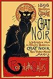 , laminiert/verkapselt, Chat Noir, französische Werbung POSTER 60.96 es (cm x 91,5 cm x 61 cm)